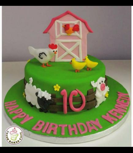 Farm Animals Themed Cake 4