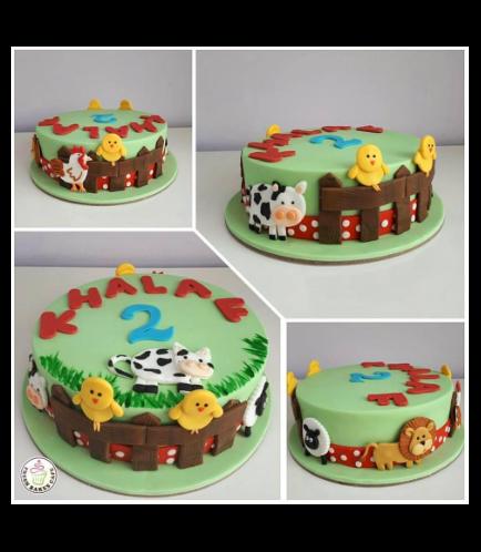 Farm Animals Themed Cake 05