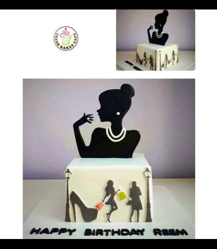 Fashionista Themed Cake
