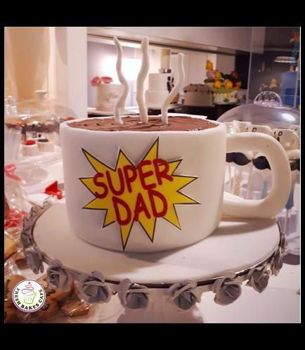 Cake - Mug - 3D Cake - Coffee - Super Dad