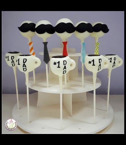 Cake Pops - Mustache-Tie & Coffee Mug