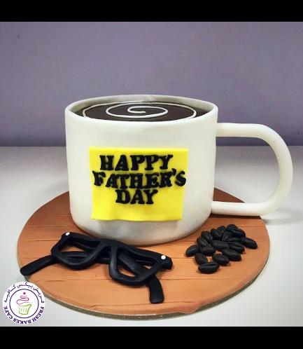 Cake - Mug - 3D Cake - Coffee - Sticky Note & Eyeglasses
