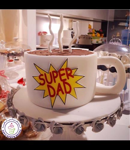 Cake - Mug - 3D Cake - Coffee - Super Dad 02