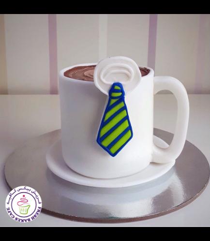 Cake - Mug - 3D Cake - Coffee  - Tie