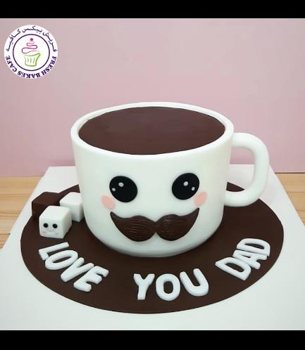 Cake - Mug - 3D Cake - Coffee
