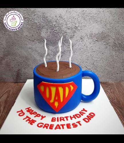 Cake - Mug - 3D Cake - Coffee - Super Dad 01