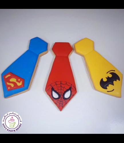 Superheroes Themed Cookies - Ties