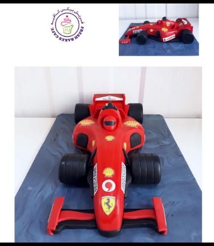 Ferrari Car Themed Cake 04