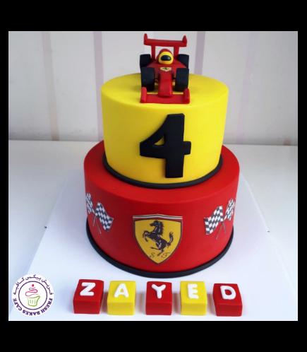 Ferrari Car Themed Cake 06