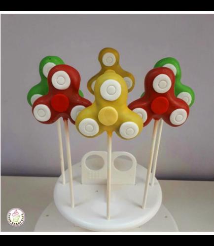 Fidget Spinner Themed Cake Pops 01
