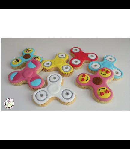 Fidget Spinner Themed Cookies 01