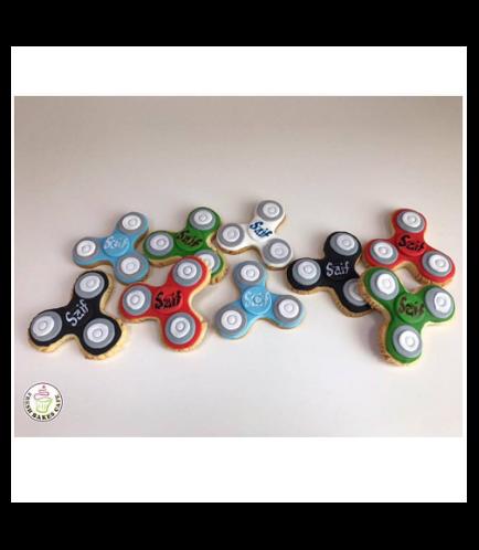Fidget Spinner Themed Cookies 03