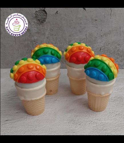 Fidget Toy Themed Cone Cake Pops 02