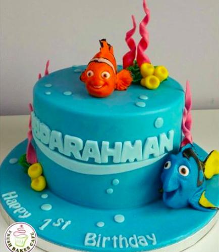 Finding Dori/Nemo Themed Cake 01