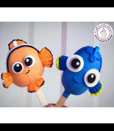 Finding Dory/Nemo Themed Popsicakes