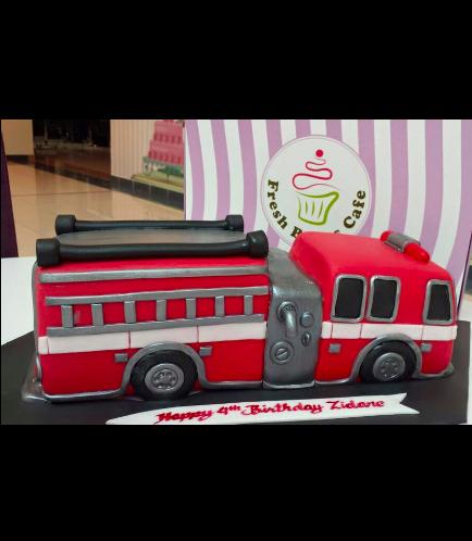 Fire Engine Themed Cake 01