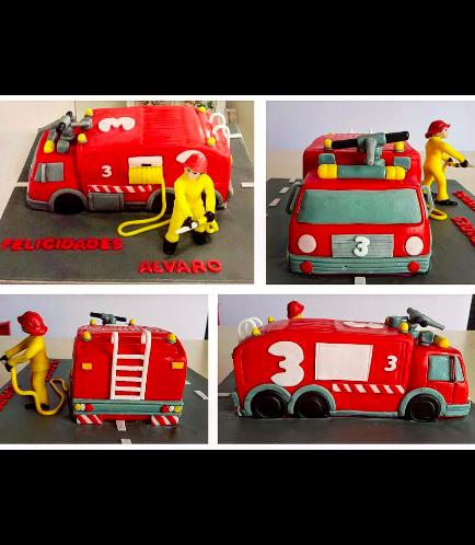 Fire Engine Themed Cake 02