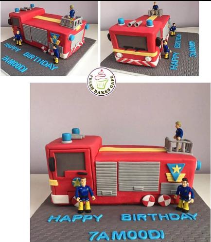 Fire Engine Themed Cake 04