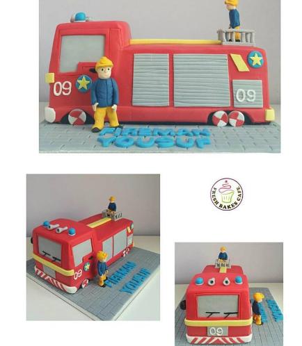 Fire Engine Themed Cake 05