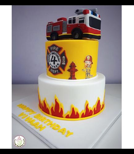Fire Engine Themed Cake 6b