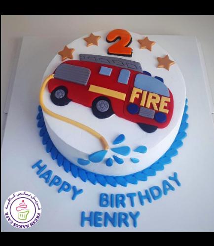 Fire Engine Themed Cake 07