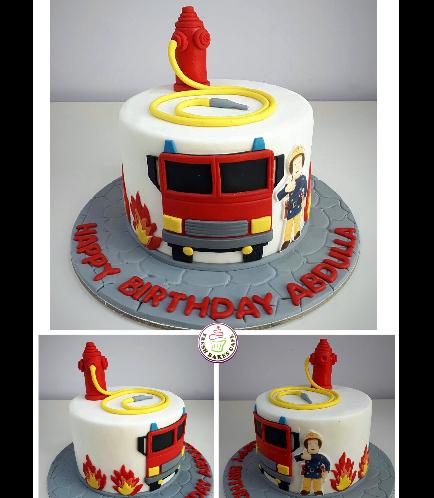 Fireman Sam Themed Cake 01