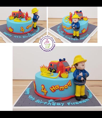 Fireman Sam Themed Cake - 3D Cake Toppers 02