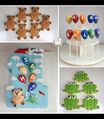 Cake, Cookies, & Cake Pops - Bear & Frog