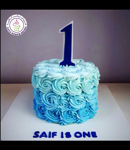 Cake - Number 01 - Cream Roses