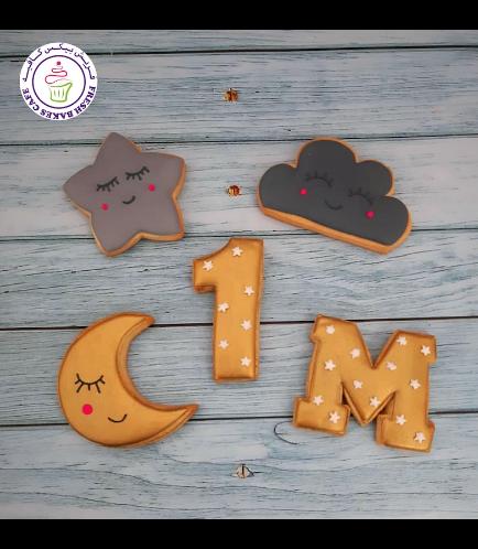 Cookies - Cloud, Star, & Moon