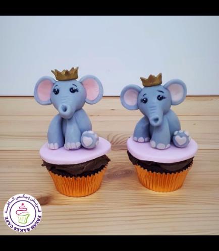 Elephant Themed Cupcakes