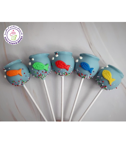 Fish Bowl Themed Cake Pops 02