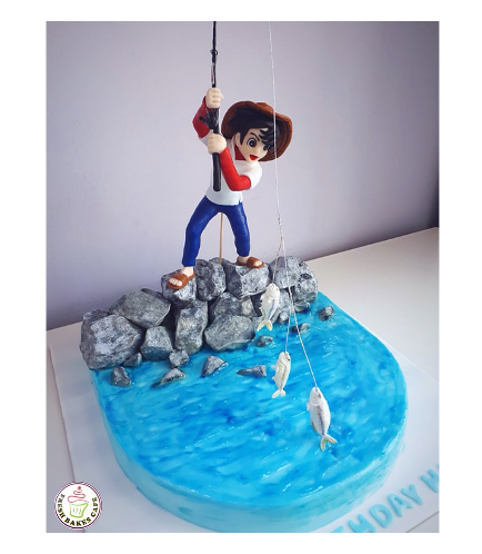 Fishing Themed Cake 01a