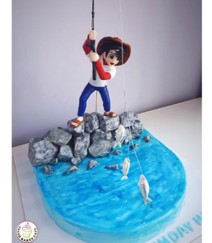 Fishing Themed Cake - 3D Fisherman 01a