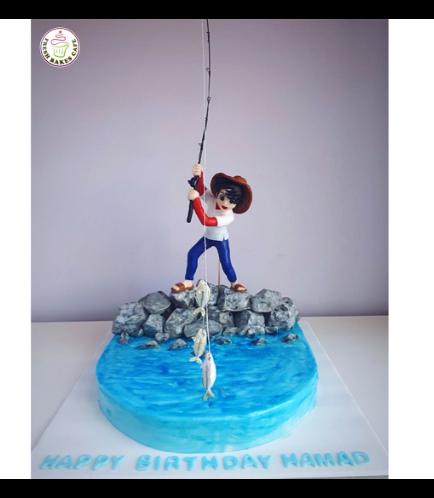 Fishing Themed Cake - 3D Fisherman 01b