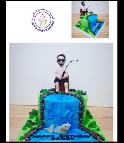 Fishing Themed Cake - 3D Fisherman 02