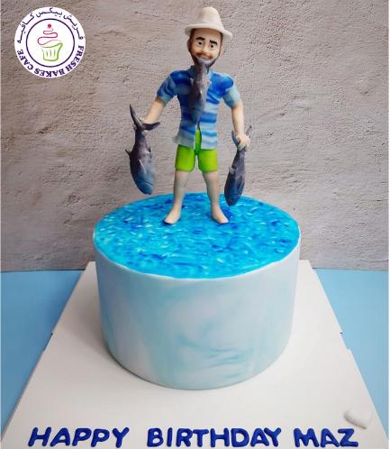 Fishing Themed Cake - 3D Fisherman 03