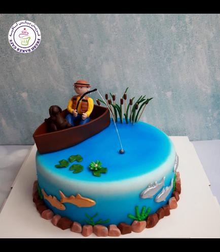 Fishing Themed Cake - 3D Fisherman 04
