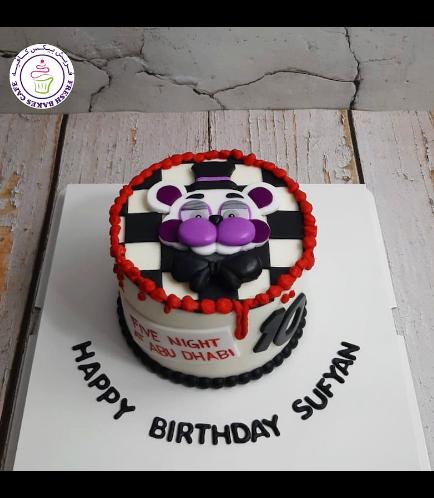 Five Nights @ Freddy's Themed Cake - Funtime Freddy