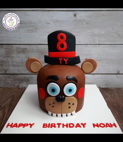 Five Nights @ Freddy's Themed Cake - Nedd Bear