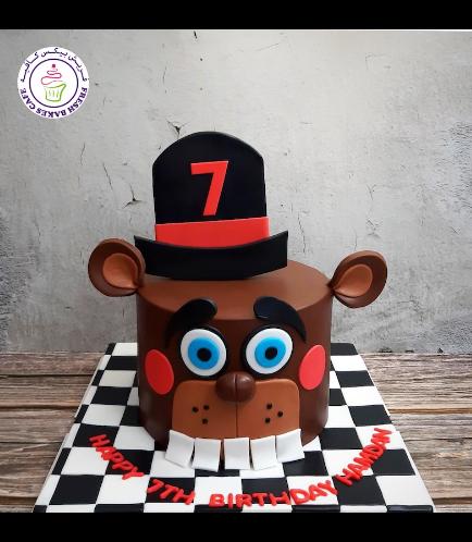 Five Nights @ Freddy's Themed Cake - Nedd Bear 02