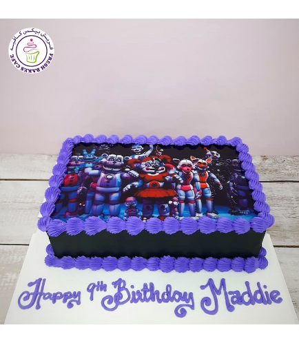 Five Nights @ Freddy's Themed Cake - Printed Picture