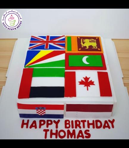 Flag Themed Cake 02