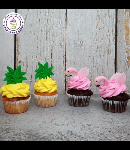 Cupcakes - Flamingo & Pineapple