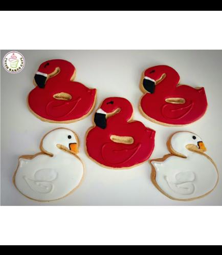 Flamingo Themed Cookies - Flamingo & Swan Floats