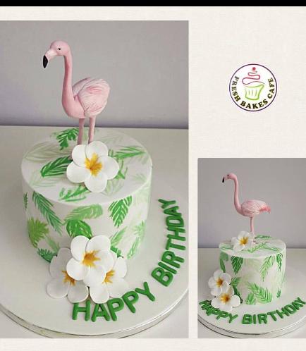 Flamingo Themed Cake 1