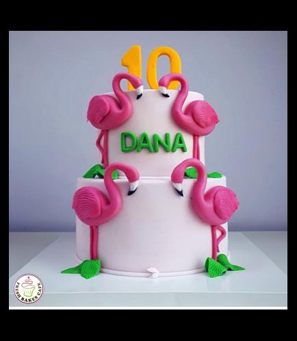 Flamingo Themed Cake 11