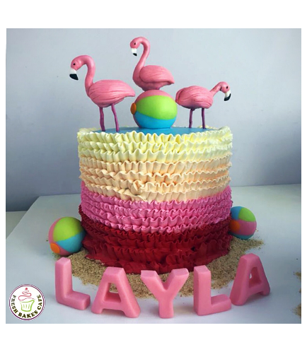 Flamingo Themed Cake 12