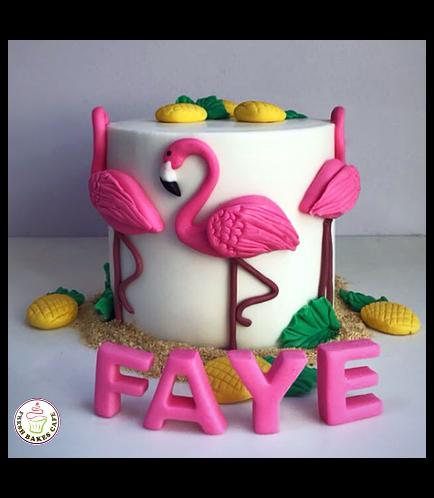 Flamingo Themed Cake 13