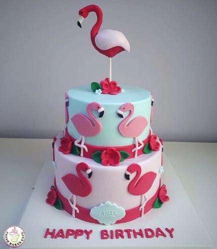 Flamingo Themed Cake 15